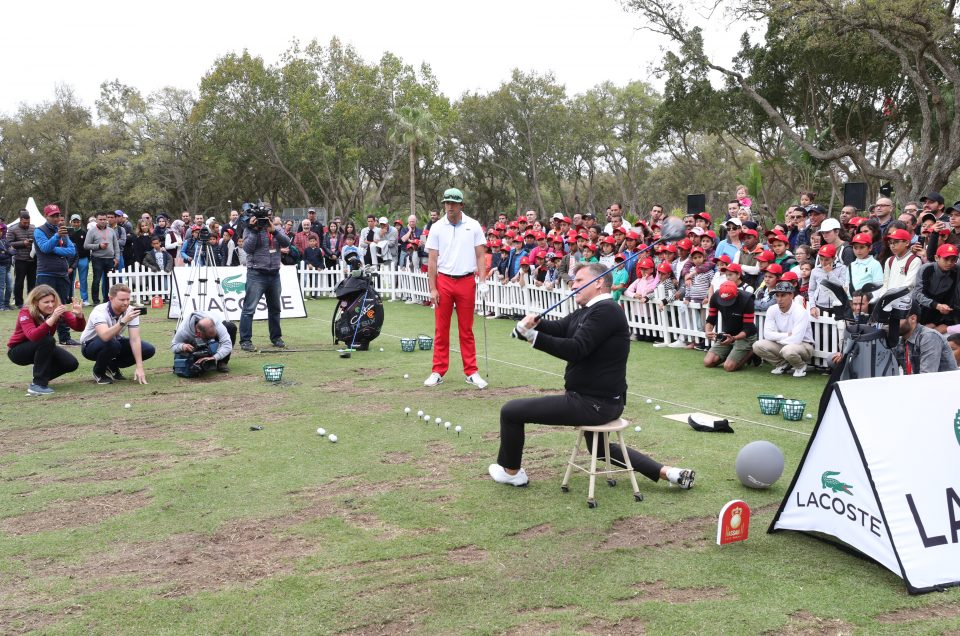 Lacoste Clinic Exhibition at the Hassan II Golf Trophy