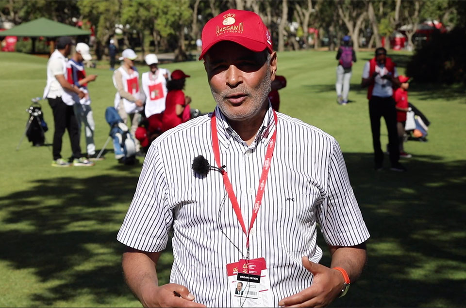 Testimony of Abdelatif EL BACHARI, International Referee, during the Kids Cup which is currently taking place on the Green Course of Royal Golf Dar Es Salam